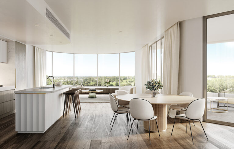 Aire Living to kitchen view